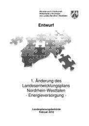 Entwurf 1. Änderung des Landesentwicklungsplans Nordrhein ...