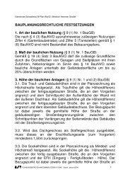Textfestsetzungen zum Bebauungsplan Haversloerhof - Gemeinde ...