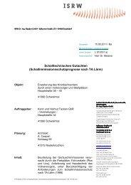 Schalltechnisches Gutachten (Schallimmissionsschutzprognose ...