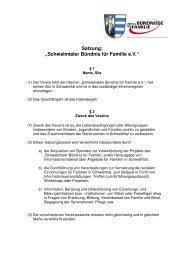 Satzung Verein B-374ndnis neu 08.2010 - Gemeinde Schwalmtal