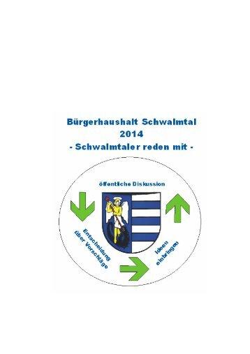 Haushaltsbroschüre - Gemeinde Schwalmtal