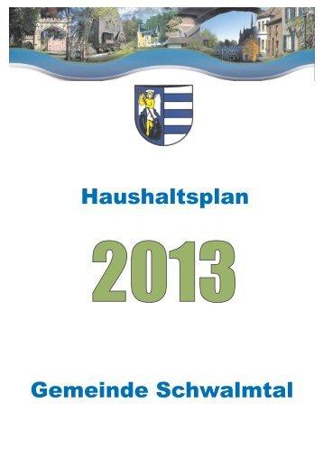 Satzung, Vorbericht, Gesamtpläne - Gemeinde Schwalmtal