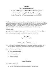 Satzung über die Erhebung von Gebühren für die ... - Schwangau