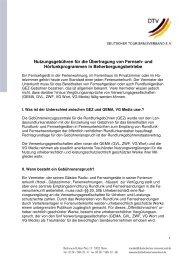 Nutzungsgebühren für die Übertragung von Fernseh ... - Schwangau