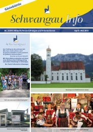 Gästeblättle - Schwangau