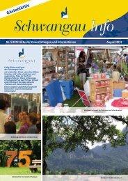 Gästeblättle August 2013 (PDF-Datei 5,27 MB) - Schwangau