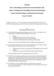 Satzung über Aufwendungs- und Kostenersatz für ... - Schwangau