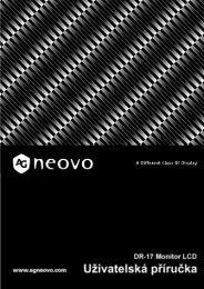 Nastavení - AG Neovo Service Website