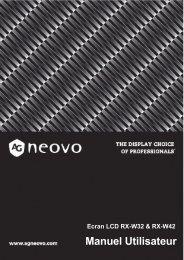 Manuel Utilisateur - AG Neovo Service Website