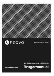 RX Sikkerheds Serie LCD-Skærm - AG Neovo Service Website