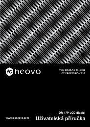 nastavování monitoru lcd - AG Neovo Service Website