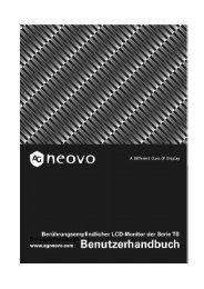 Benutzerhandbuch - AG Neovo Service Website
