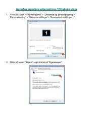 Hvordan installere skjermdriver i Windows Vista - AG Neovo Service ...
