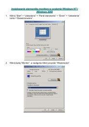 Instalowanie sterownika monitora w systemie Windows NT i ...
