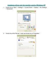 Instalarea driver-ului de monitor pentru Windows XP - AG Neovo ...