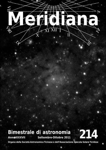 Bimestrale di astronomia - Società Astronomica Ticinese