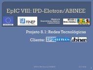 EpIC VIII: IPD-Eletron/ABINEE