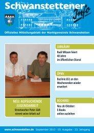 INFO September 2013 - Gemeinde Schwanstetten