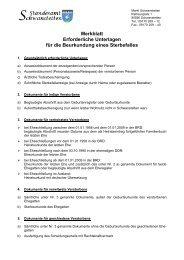 Merkblatt Erforderliche Unterlagen für die Beurkundung eines ...