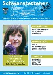 INFO Juli 2013 - Gemeinde Schwanstetten