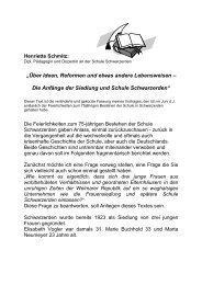 """""""Über Ideen, Reformen und etwas andere ... - Schwarzerden"""