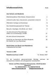 Mitteilungen 2006 - Schwarzerden