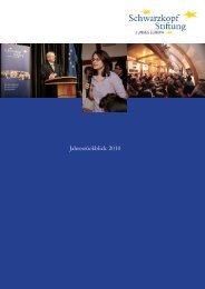 Jahresrückblick 2010 - Schwarzkopf-Stiftung Junges Europa