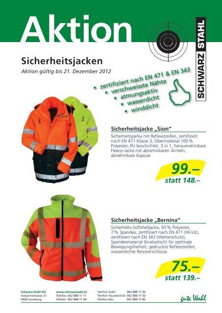 Sicherheitsjacken - Schwarz Stahl AG