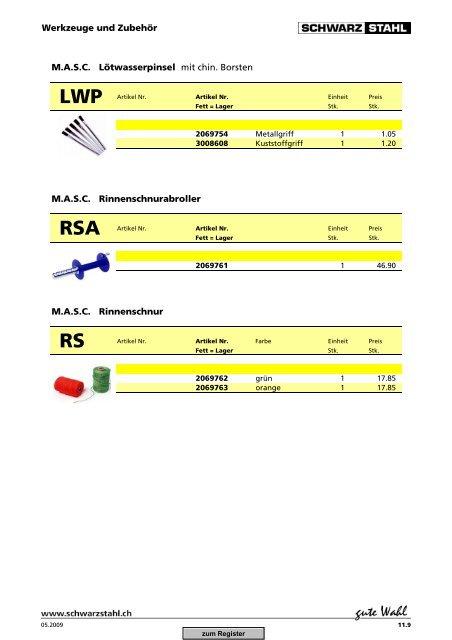 Download Spengler-Katalog (PDF, 11869 kb) - Schwarz Stahl AG
