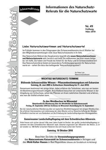 Infobrief 49 - Schwarzwaldverein