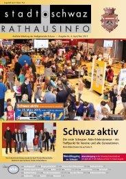 PDF Rathausinfo Nr. 04/2013 - Schwaz