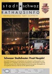 Rathausinfo Ausgabe Jänner 2010 - Schwaz