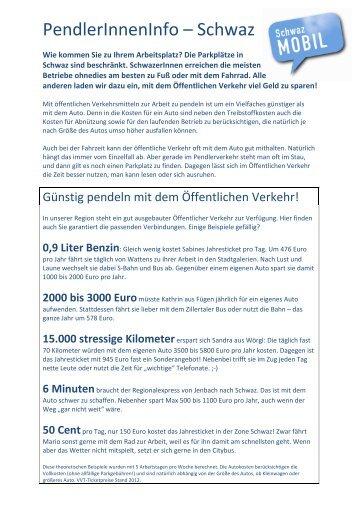 Infoblatt zum Download - Schwaz