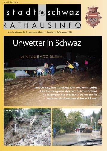 Rathausinfo Nr. 7 2011 - Schwaz