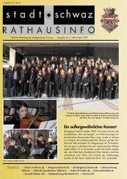Rathausinfo Ausgabe März 2007 - Schwaz