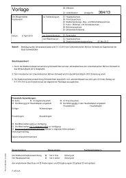 Vorlage 364/13 - Stadt Schwedt/Oder