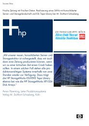 """""""Mit unserer neuen, konsolidierten Server- und ... - eSell GmbH"""