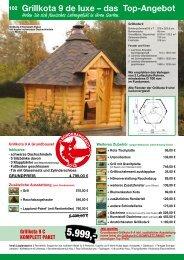 Grillkotas, Saunahäuser, Saunafässer - Schweitzer Holz