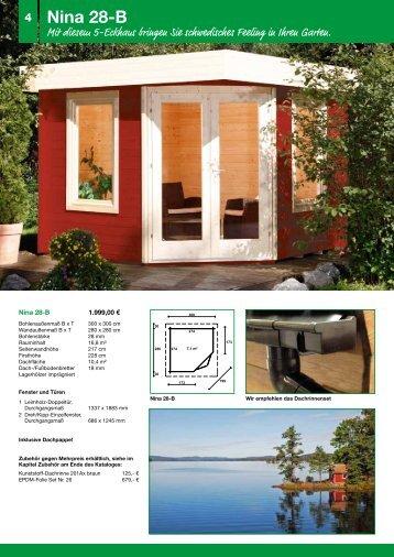 Flachdach- 5eck-, Tonnendach-, Pultdach ... - Schweitzer Holz