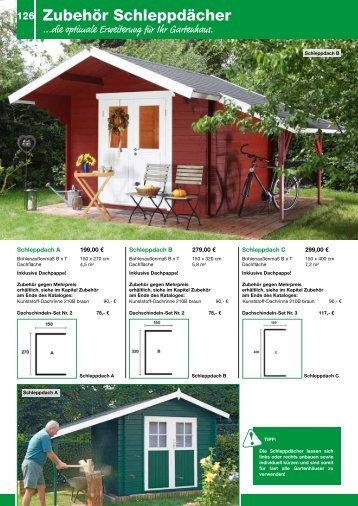 Gartenhaus-Zubehör - Schweitzer Holz