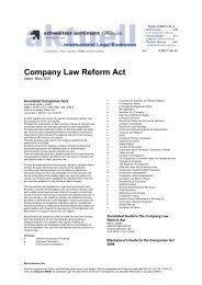 Company Law Reform Act