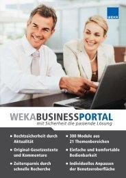 WEKABUSINESSPORTAL - Schweitzer Fachinformationen