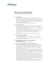 Allgemeine Geschäftsbedingungen - Schweitzer Fachinformationen