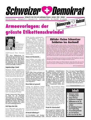 Armeevorlagen: der grösste Etikettenschwindel - Schweizer ...