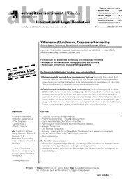 schweitzer sortiment | München Benchmarking