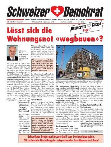 Lässt sich die Wohnungsnot «wegbauen»? - Schweizer ...