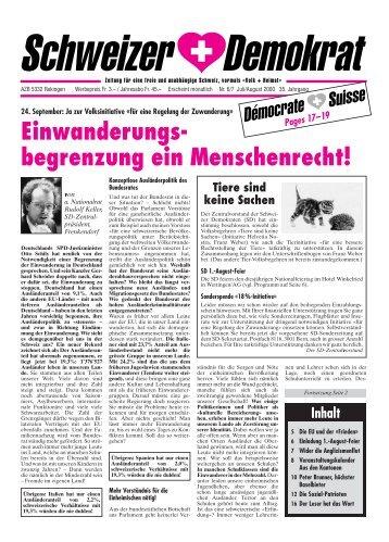 Umbruch Juli-August - Schweizer Demokraten SD