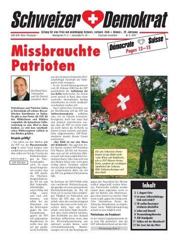 Missbrauchte Patrioten - Schweizer Demokraten SD
