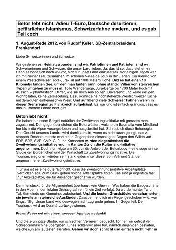 Erstaugustansprache von R. Keller als .pdf runterladen - Schweizer ...
