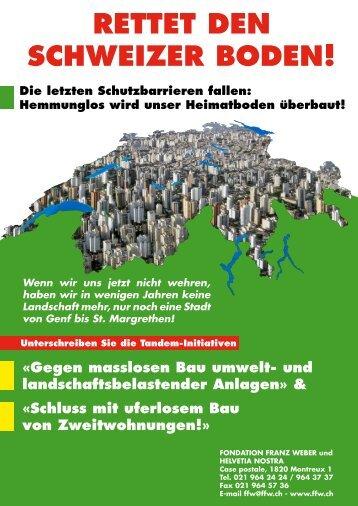 Tandem-Initiativen - Schweizer Demokraten SD